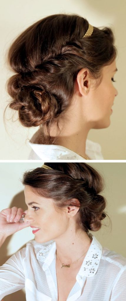 hair messy updo tutorial